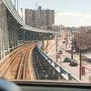 Stock_Carroll - Riding PATCO train over the Benjamin Franklin Bridge