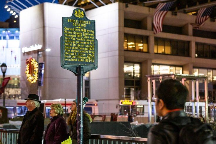 Carroll - Broad Street Station Historical Marker