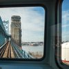 Stock_Carroll - Riding a PATCO train over the Benjamin Franklin Bridge