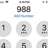 988 - suicide hotline number