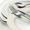 fork, knife and plates for dinner
