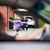 Daughter running towards father